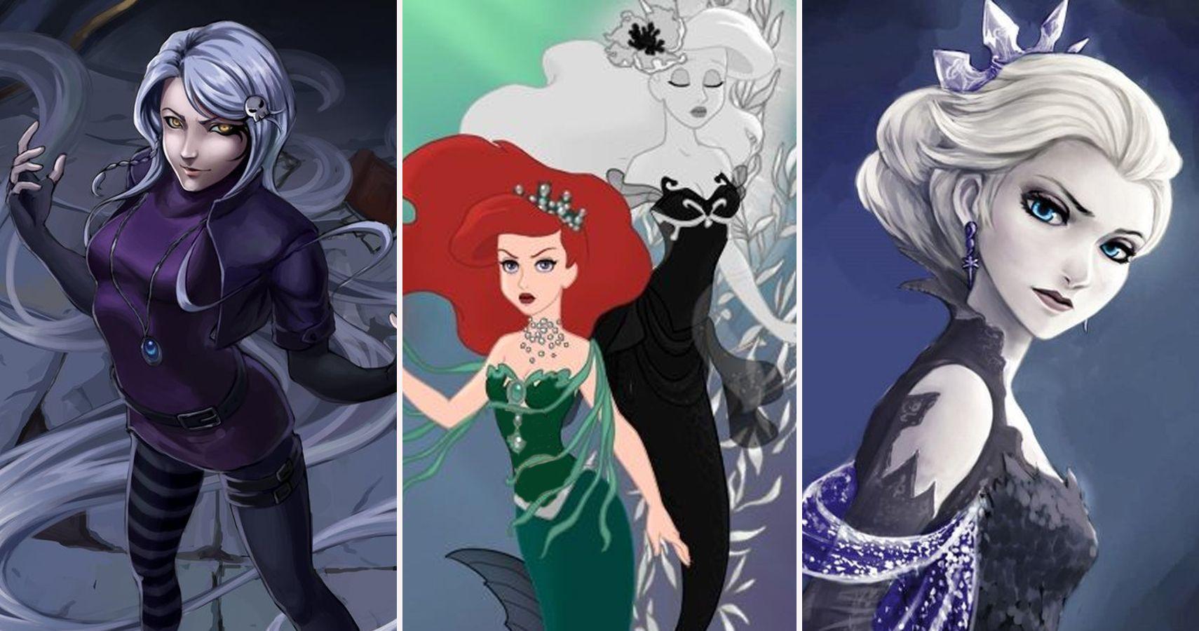Very pity disney princess as villains