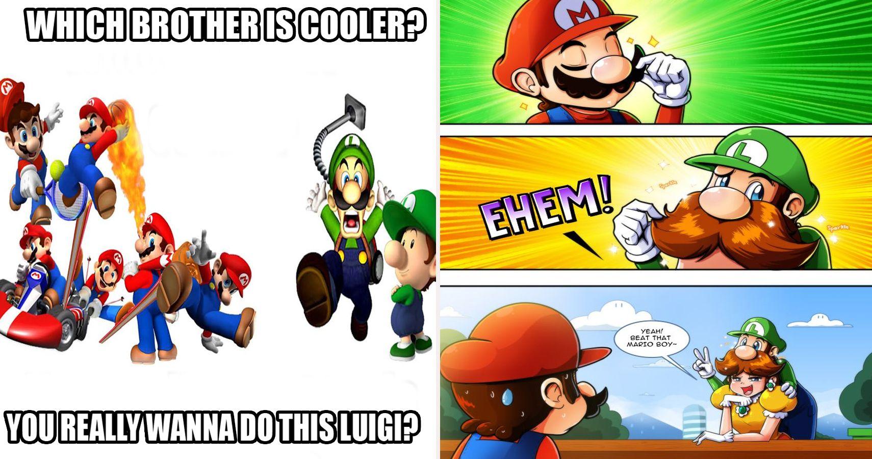 Family Feud 25 Hilarious Mario Vs Luigi Memes That Make Fans Choose