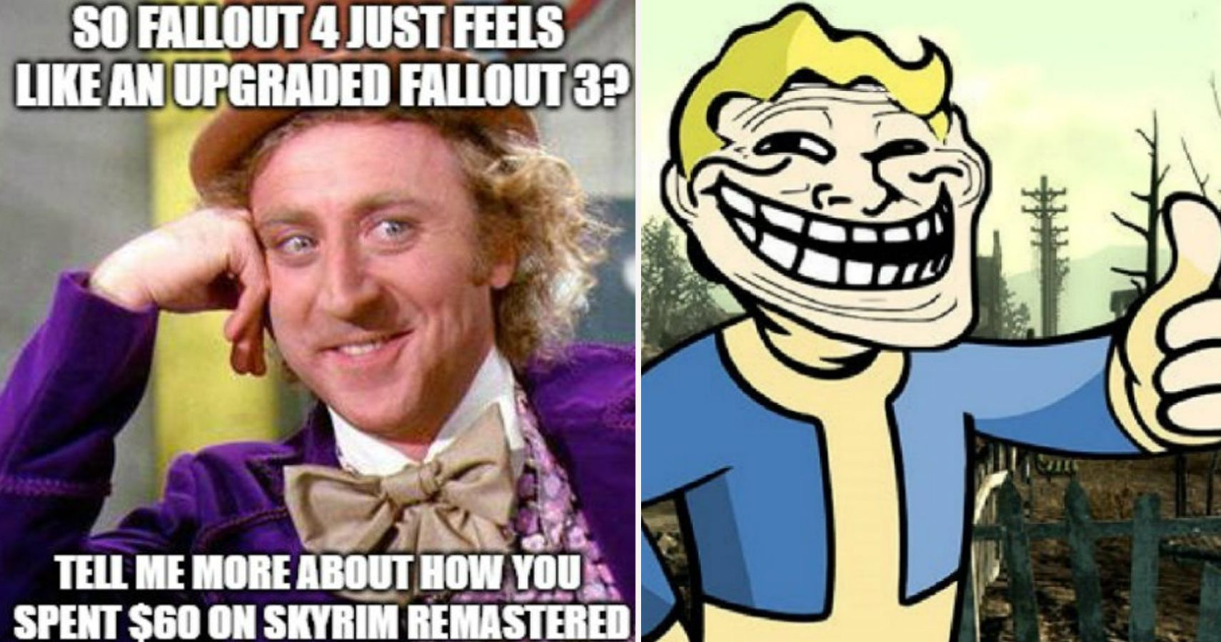 20 Hilarious Fallout Vs Skyrim Memes That Show Fallout Is Better