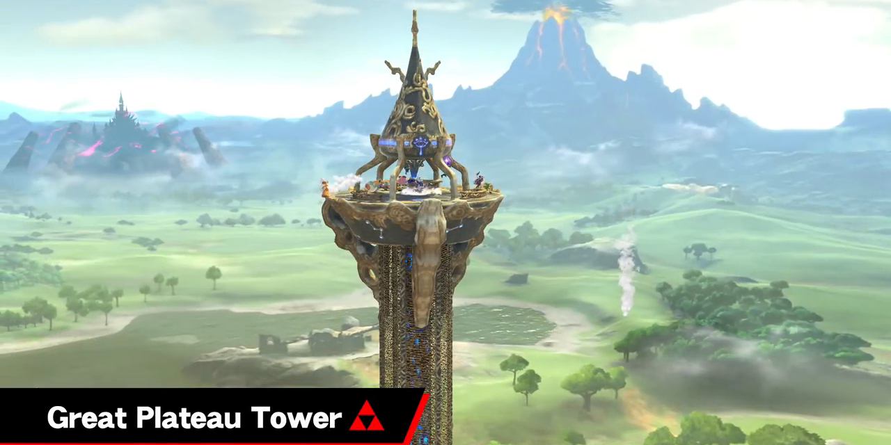 Gaming Detail: Great Plateau Tower Stage In Smash Bros  Ultimate Has