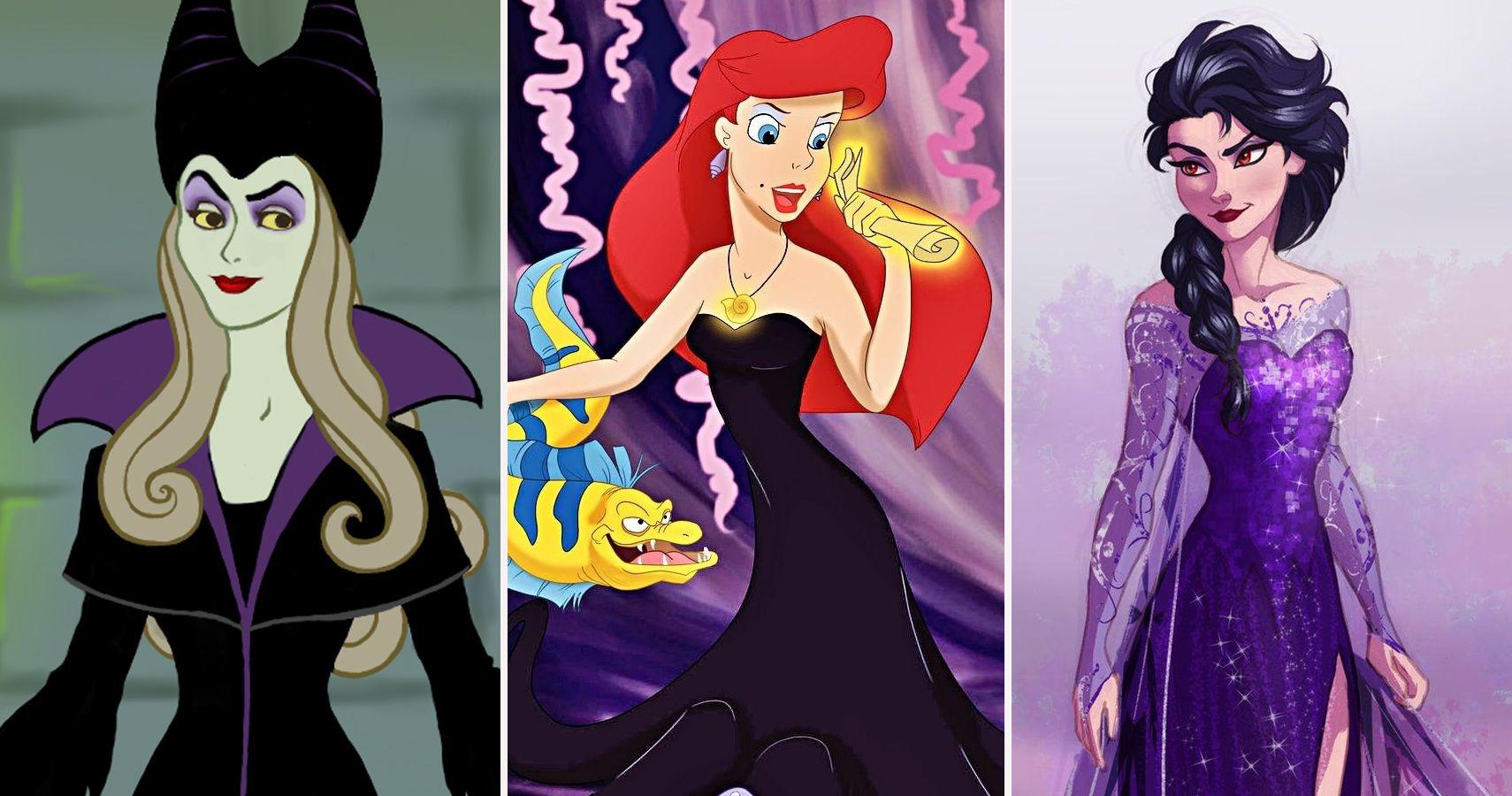 25 Disney Princes And Princesses Reimagined As Villains