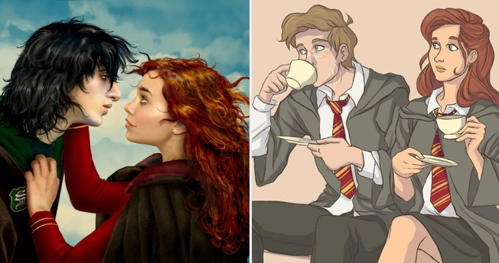 29 Fan Pictures Of Unexpected Harry Potter Couples That Are