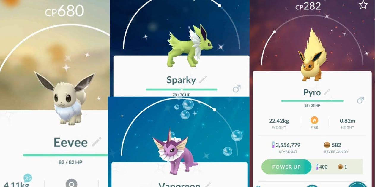 Pokémon: Every Shiny Eevee Evolution, Ranked | TheGamer