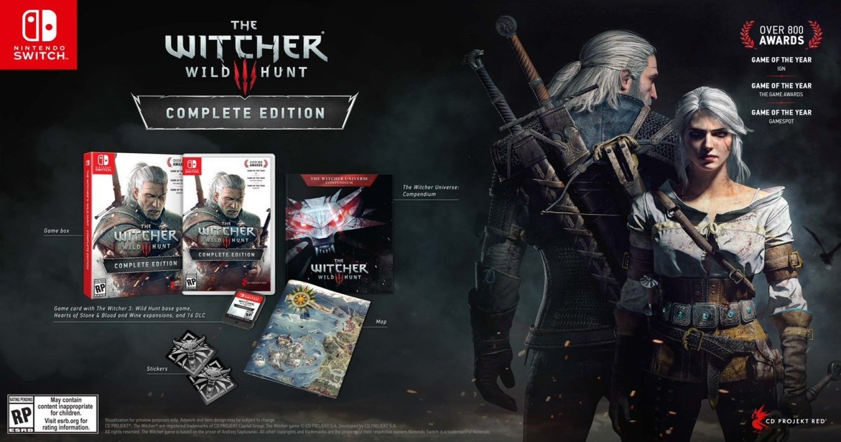 Czech Retailer Listing Shows The Witcher 3: Wild Hunt Could Soon Be Coming To The Switch
