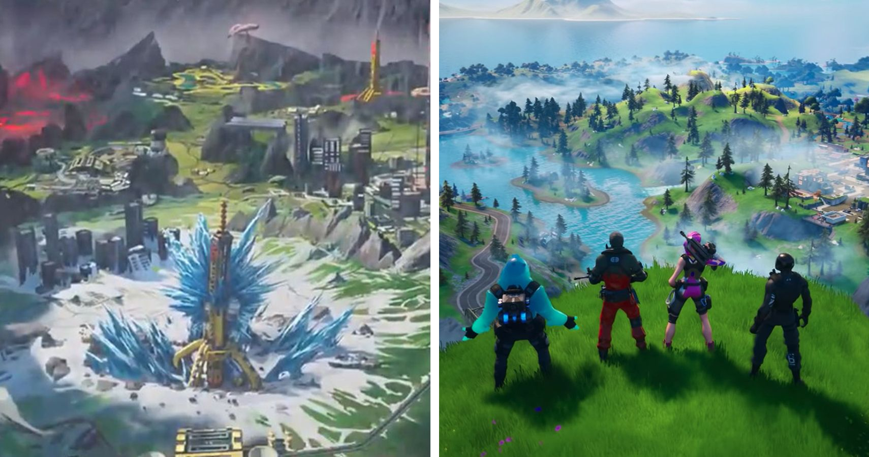 Map Comparison Apex Legends Season 3 Vs Fortnite Chapter 2