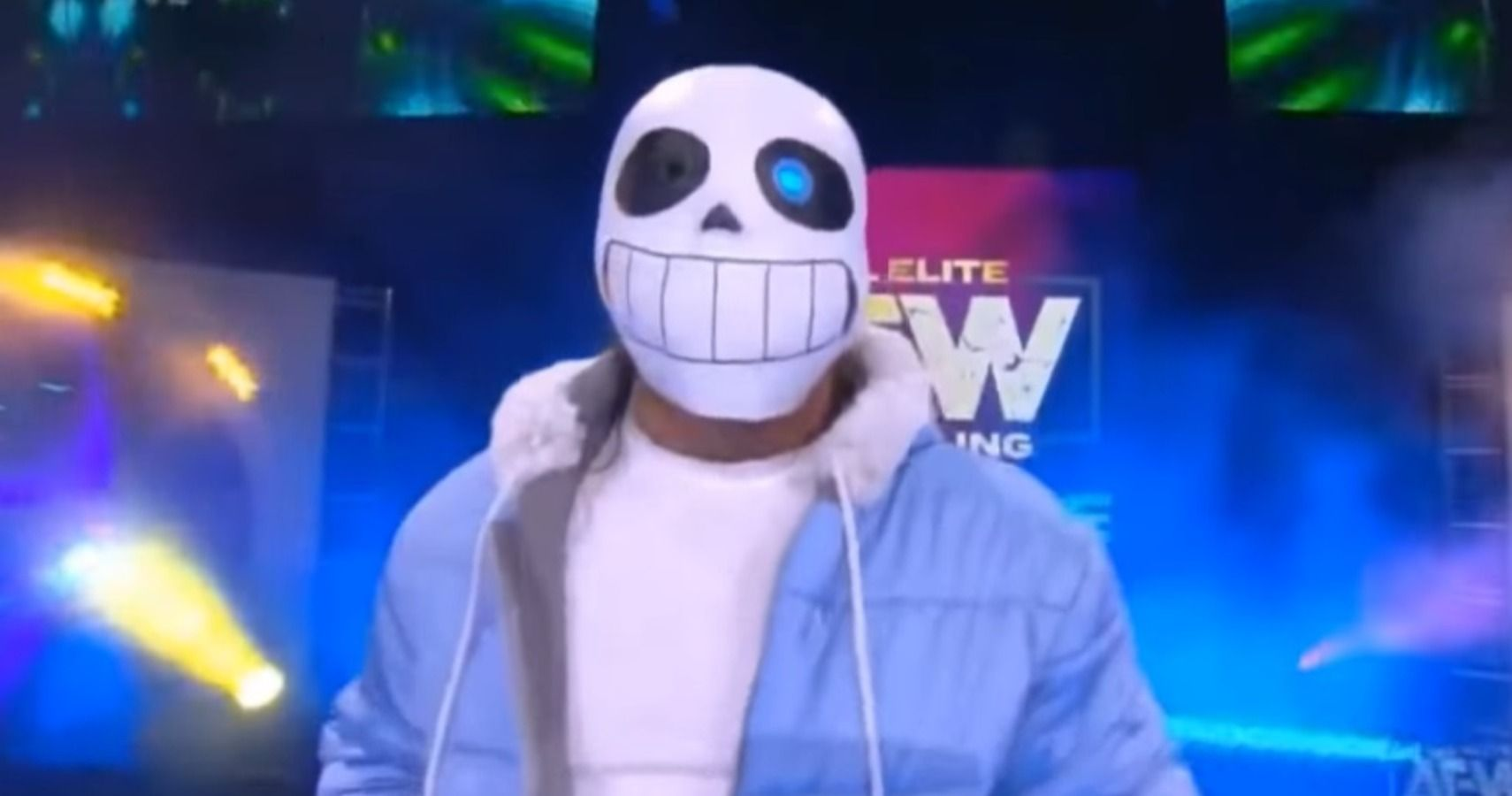 Kenny Omega Showed Up To An Aew Match Dressed Like Sans From