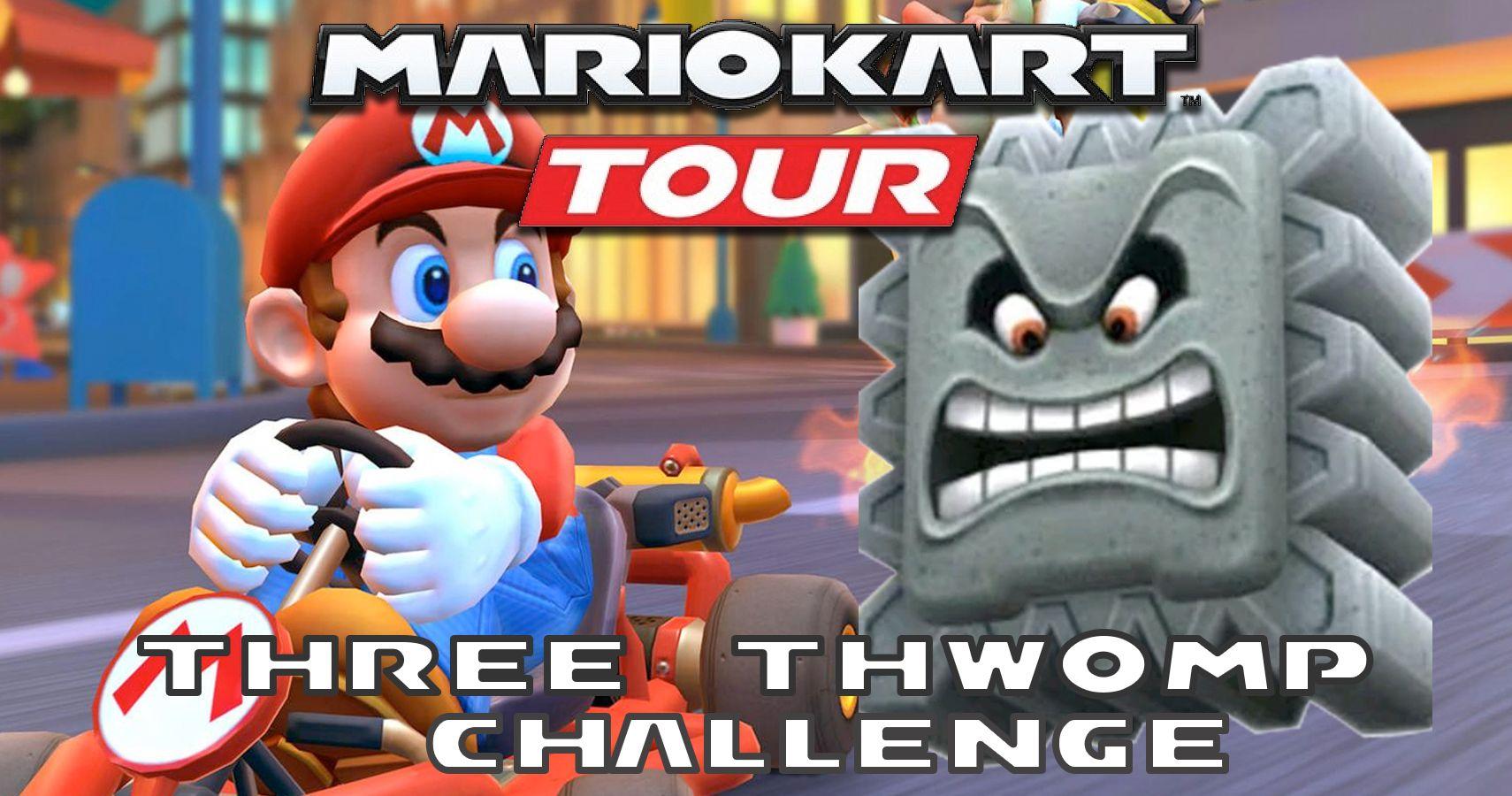 How To Complete Mario Kart Tour S Three Thwomp Challenge