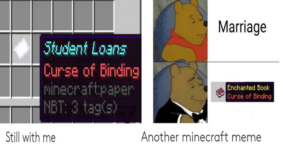Minecraft 10 Curse Of Binding Memes That Are Too Funny For Words