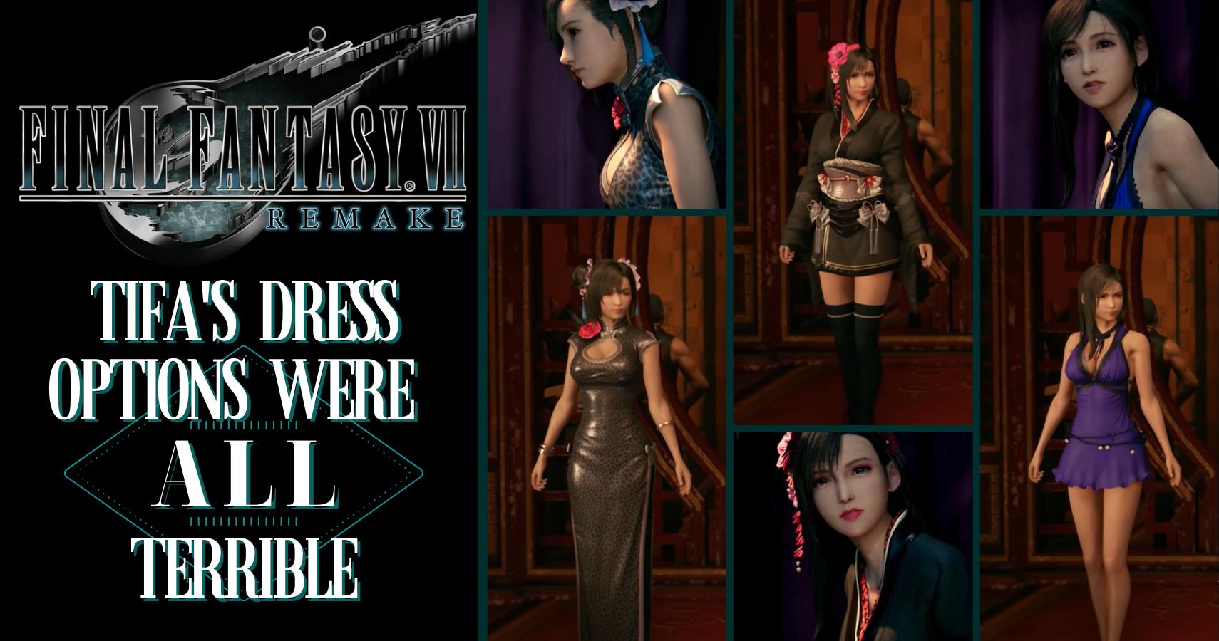 Ffvii Remake Tifa S Dress Options Were All Terrible Thegamer