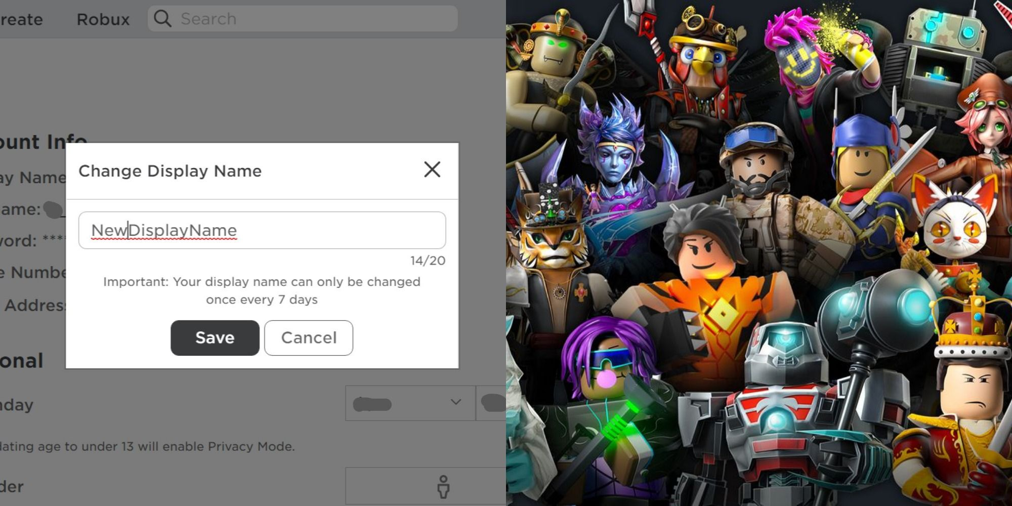 My how birthday change roblox to on How To